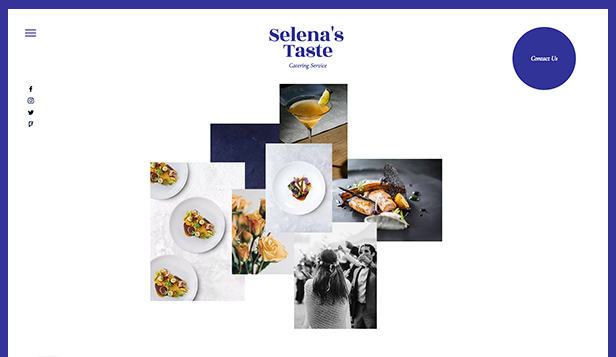 Restaurants en eten website templates – catering