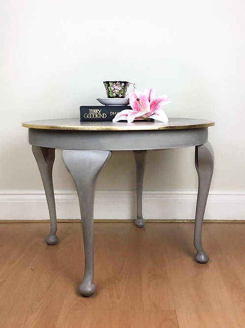 Vintage Faux Marble Effect Table