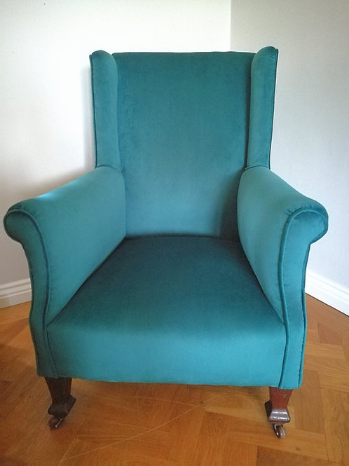 Late Victorian Wing-back Armchair