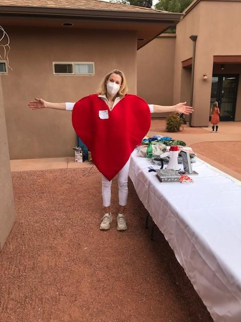 Lisa's heart costume!