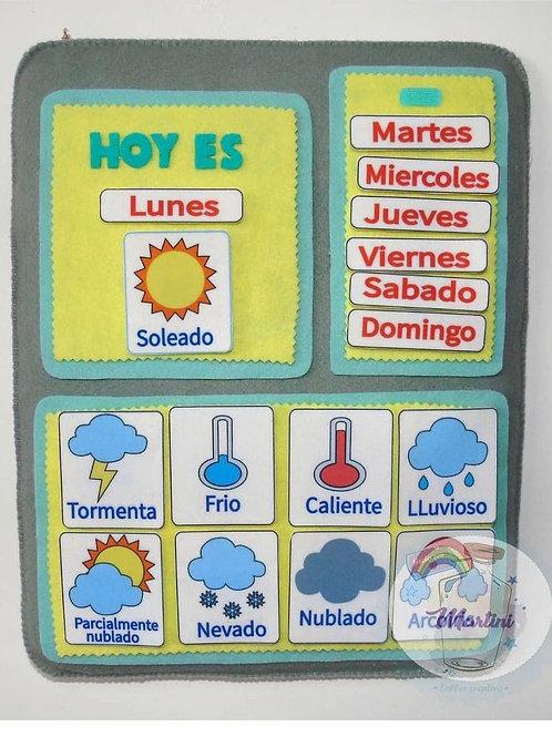Tablero Dias de la semana y Clima