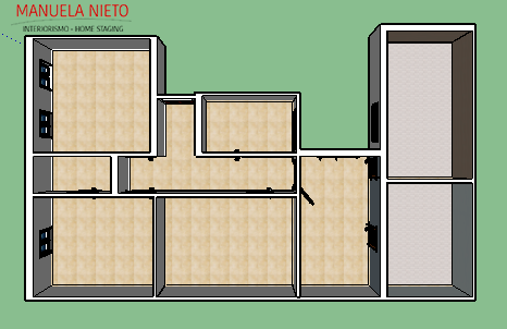 Plano vivienda 3D