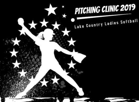 Ladies Slingshot Pitching Clinic Tomorrow!