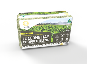 Lucerne & Cereal Hay Blend - medium bale