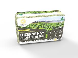 Lucerne & Cereal Hay Blend - medium bale