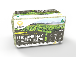 Lucerne & Cereal Hay Blend - large bale.