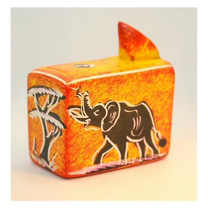 Large Orange Soapstone Box with Pop Up Snake