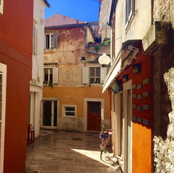 Zadar - streets in the early morning