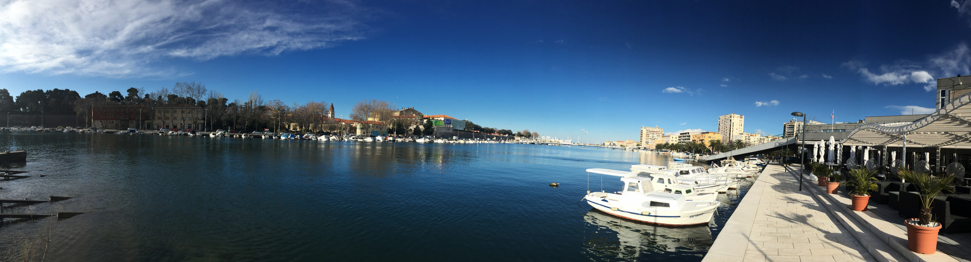 Zadar - panorama from the Harobour Caffee