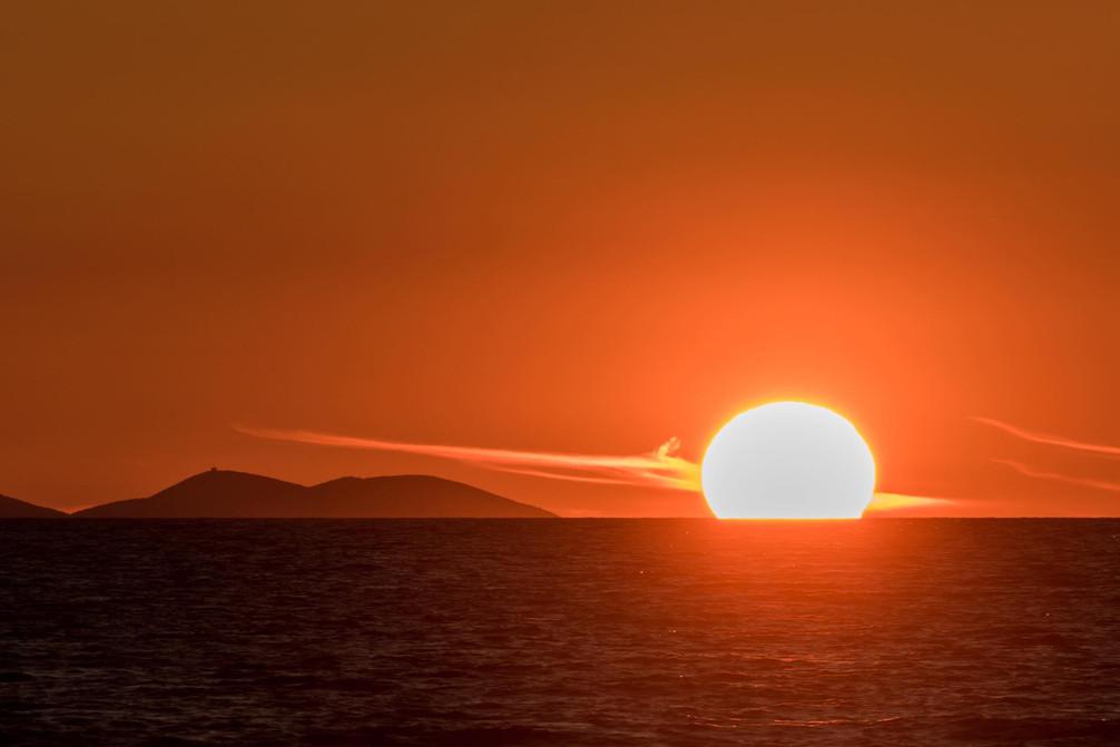 Perfect sunset from Zadar Coast
