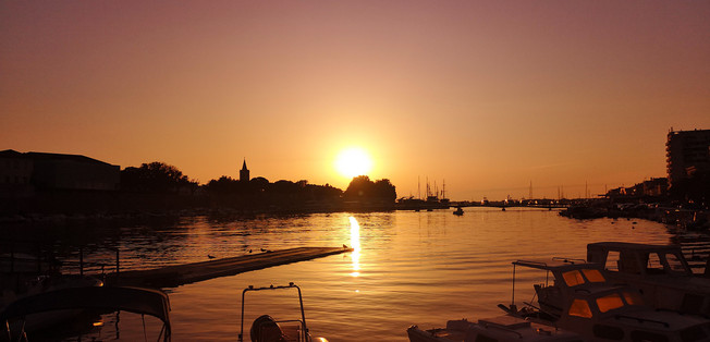 Zadar - Sunset from the Harbour coffee bar