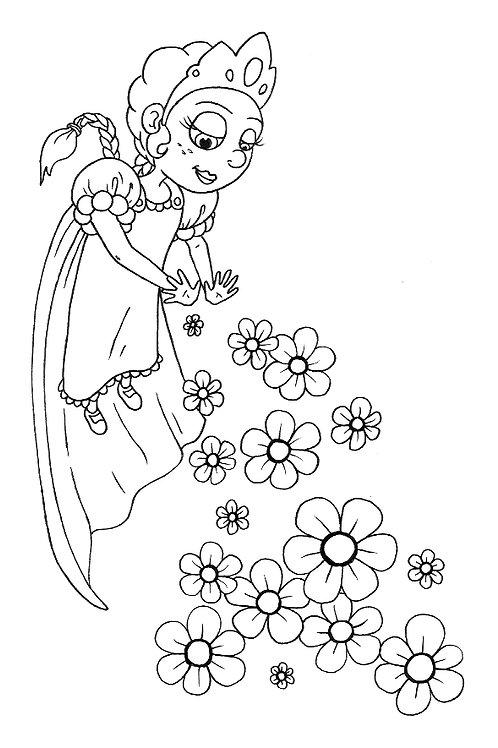Superhero Princess Colouring Sheet