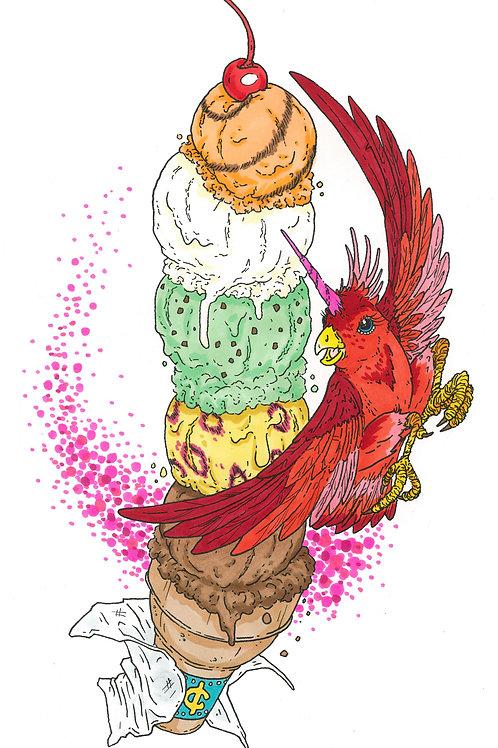 Birdicorn Ice Cream