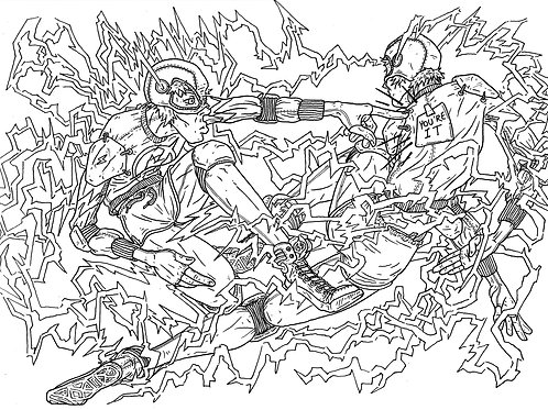 The Flash Colouring Sheet