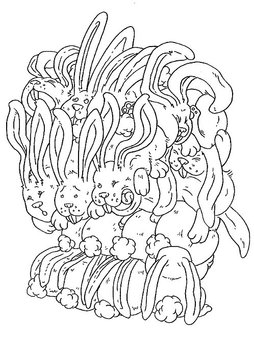 Bunnies Colouring Sheet