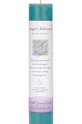 Crystal Journey Herbal Magic Pillar Candle - Angel's Influence