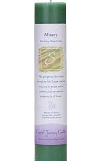 Crystal Journey Herbal Magic Pillar Candle - Money