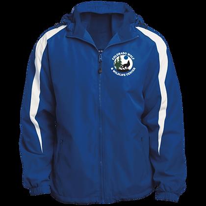 Sport-Tek Fleece Lined Colorblocked Hooded Jacket