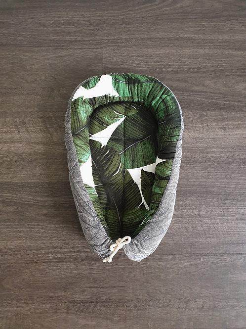 Palm Leaf Stonewashed Grey