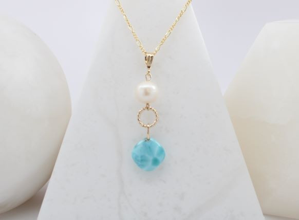 Freshwater Pearl and Larimar