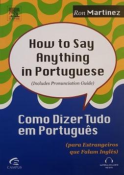Como dizer tudo em Português para estrangeiros que falam inglês
