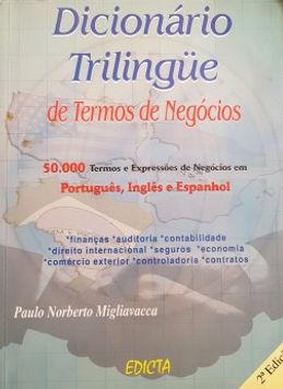 Dicionário Trilingüe de Termos de Negócios