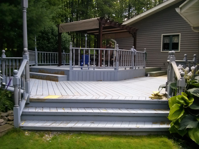Before Deck Over Stain