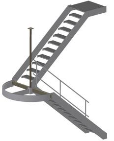 Podest-Treppe