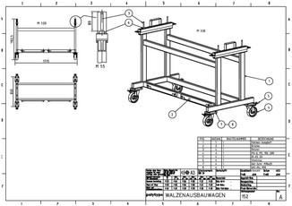 Walzen-Ausbauwagen