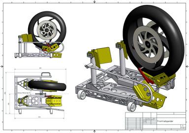 Frontrad-Spender