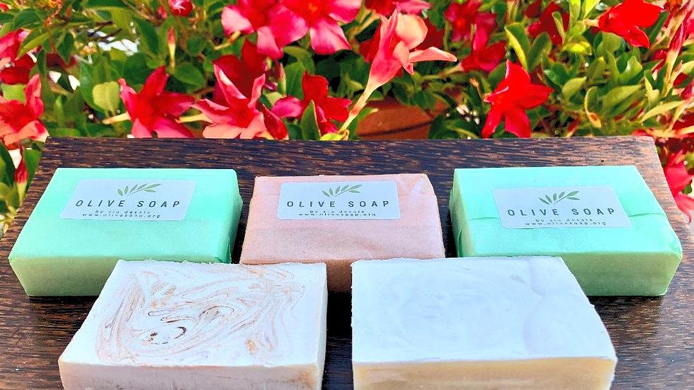 Handmade All Natural Bar Soap             Variety 6-Pack
