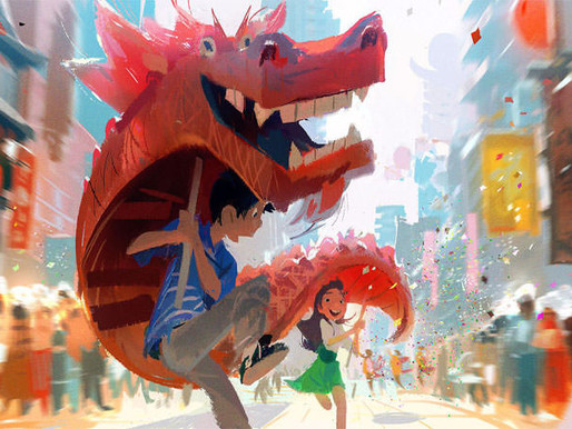 "Animated movie ""Wish Dragon"" trailer"
