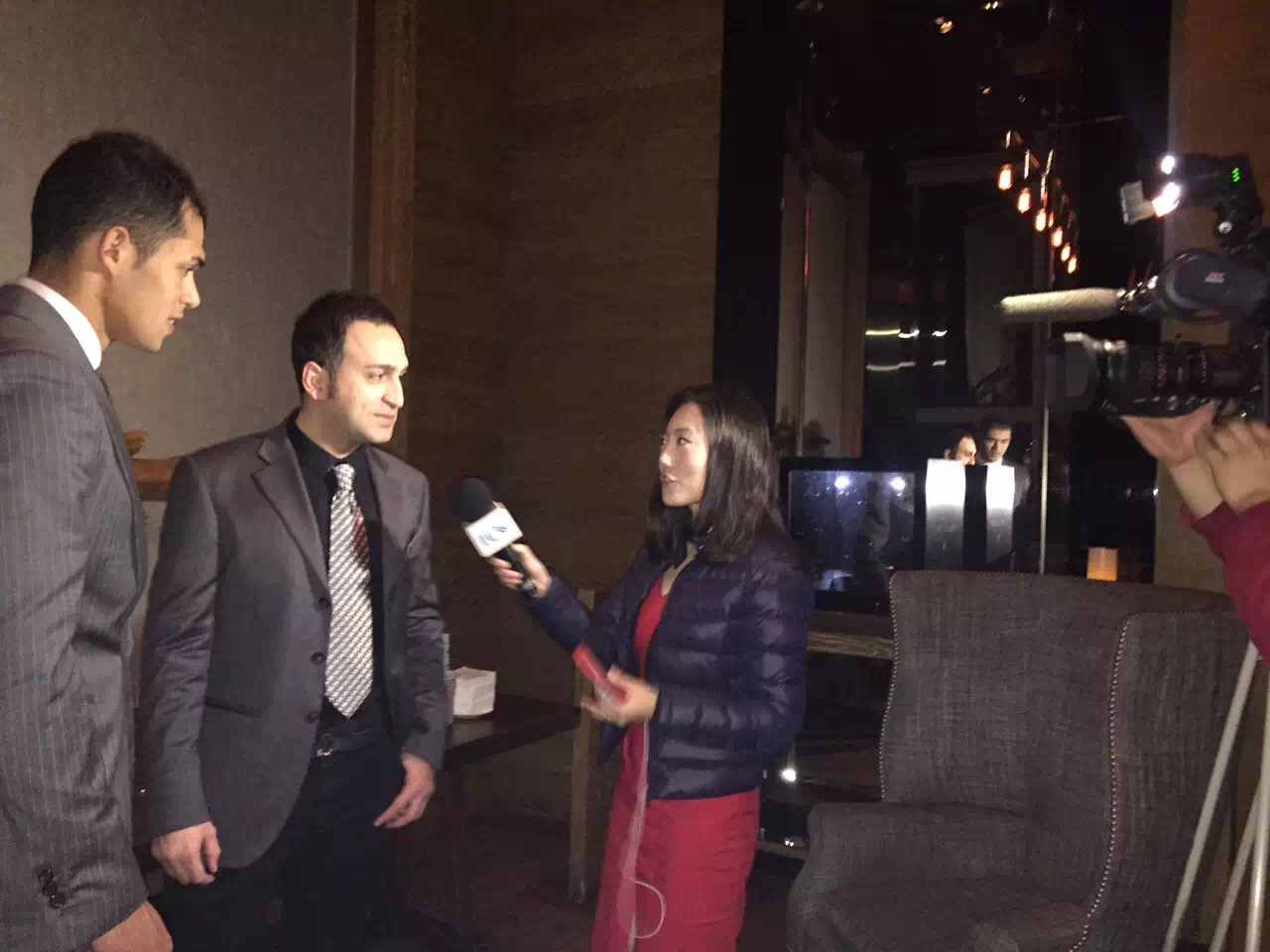 China television interview