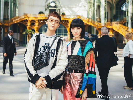 William Chan at Paris fashion week