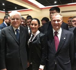 Ambra Schillirò和意大利总统Sergio Mattarella
