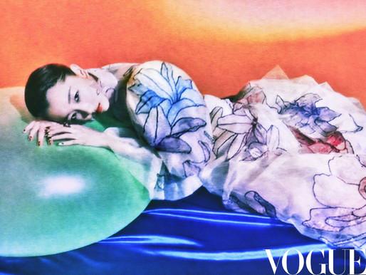 Zhou Dongyu on Vogue