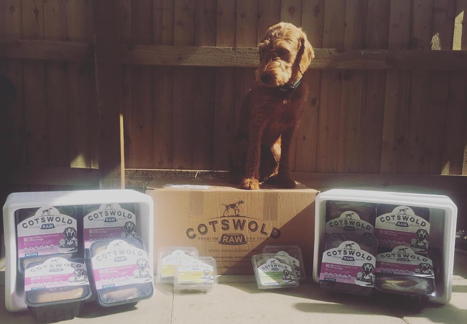 Cotswold Raw meat delivery arrived today, we keep plenty in stock and do monthly client orders. If your thinking about starting your doggy on raw get in touch for some free samples xx
