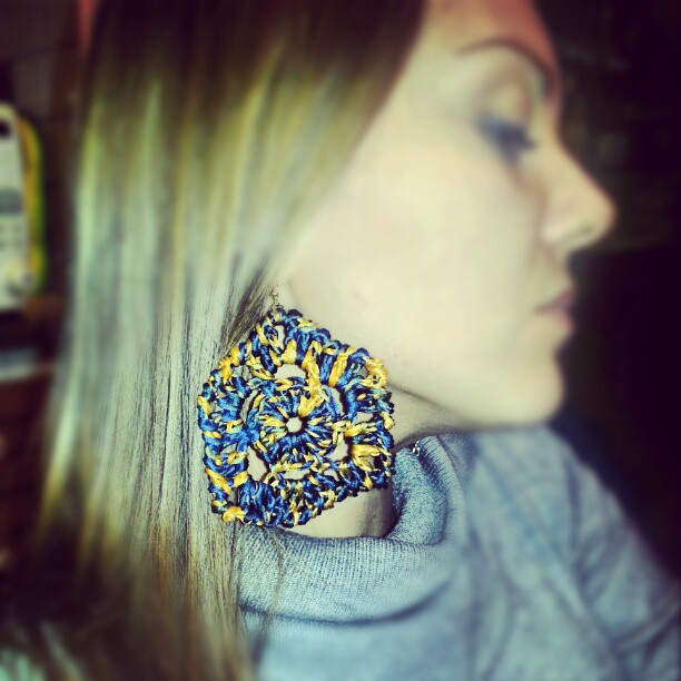 Earring Sicilian Crochet