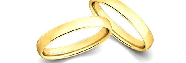 1 Geelgouden 14 krt. Christian Bauer trouwring 3,5 mm
