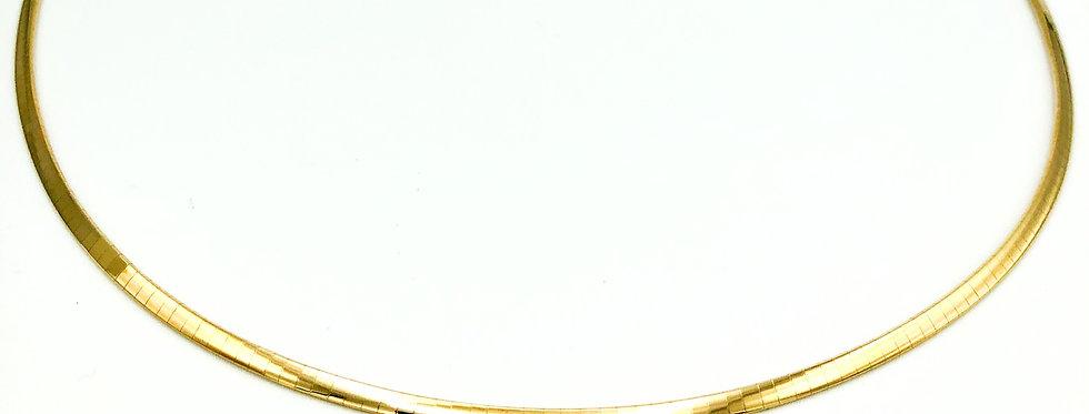 14 krt. Geelgouden flexibel omega collier