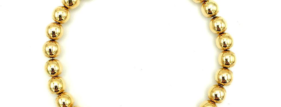 14 krt. Geelgouden armband bestaande uit ronde bolletjes