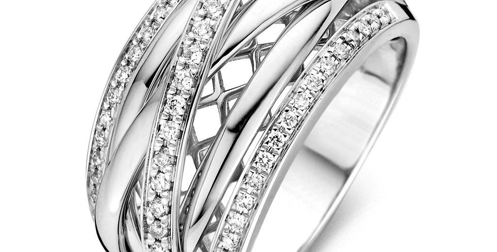 Witgouden Dames Ring Met Diamant 35 crt.