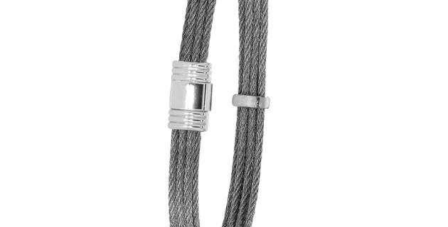 Albanu armband van edelstalen kabels