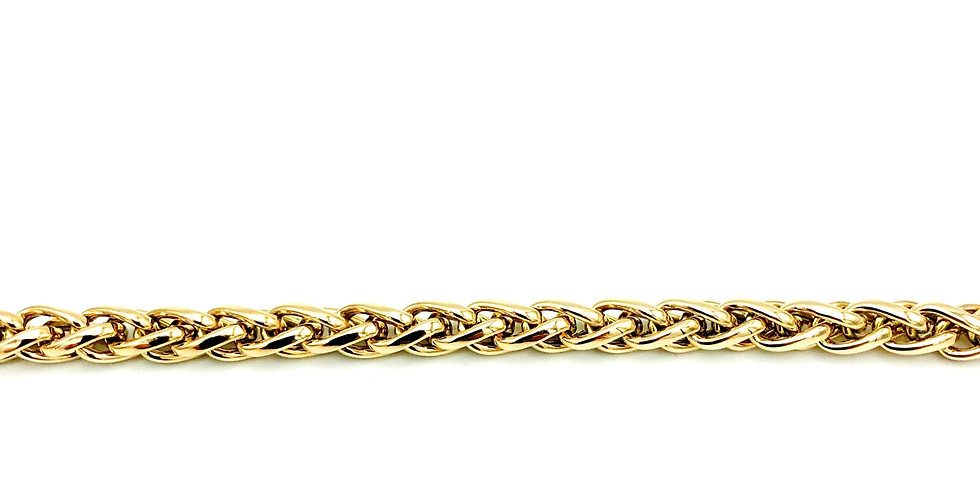 14 krt. Geelgouden volle palmier armband