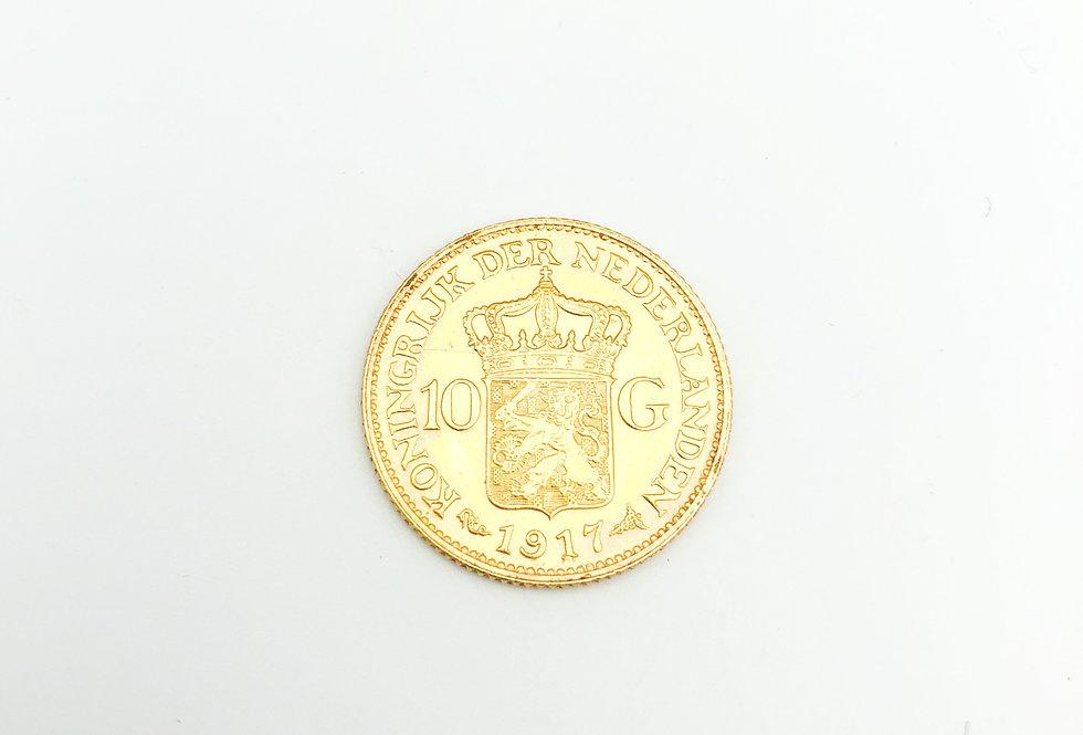Gouden tien gulden munt