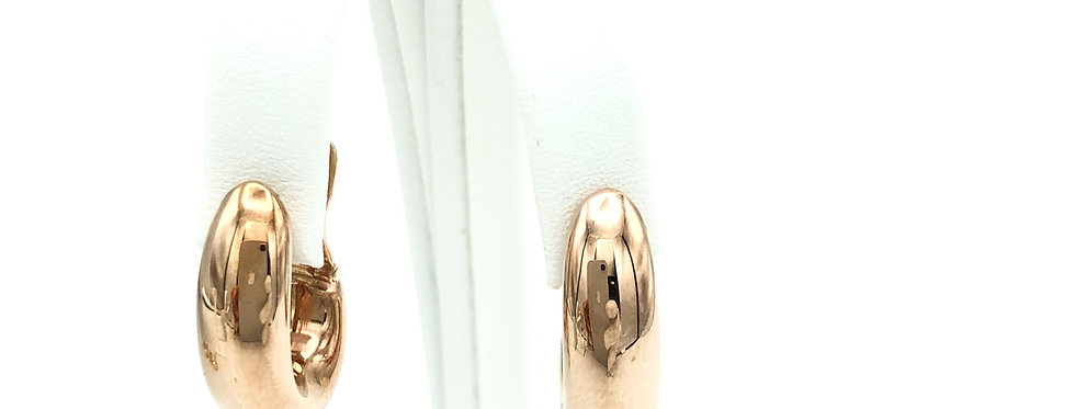 14 krt. Rosegouden ovale druppelvorm oorringen