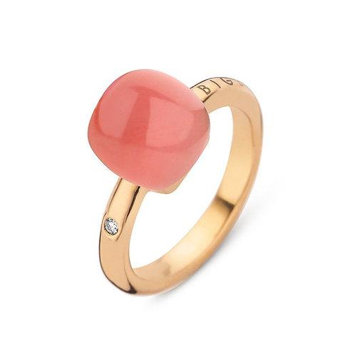 Bigli Mini Sweety Ring met Coral