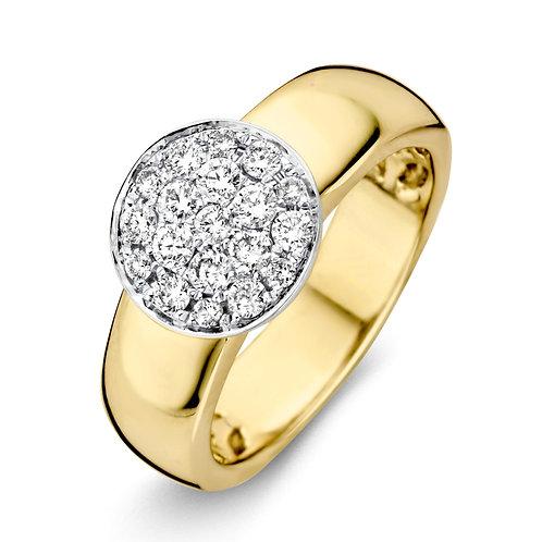 14 Krt. Geelgouden Ring Met Diamant 0,5 crt.