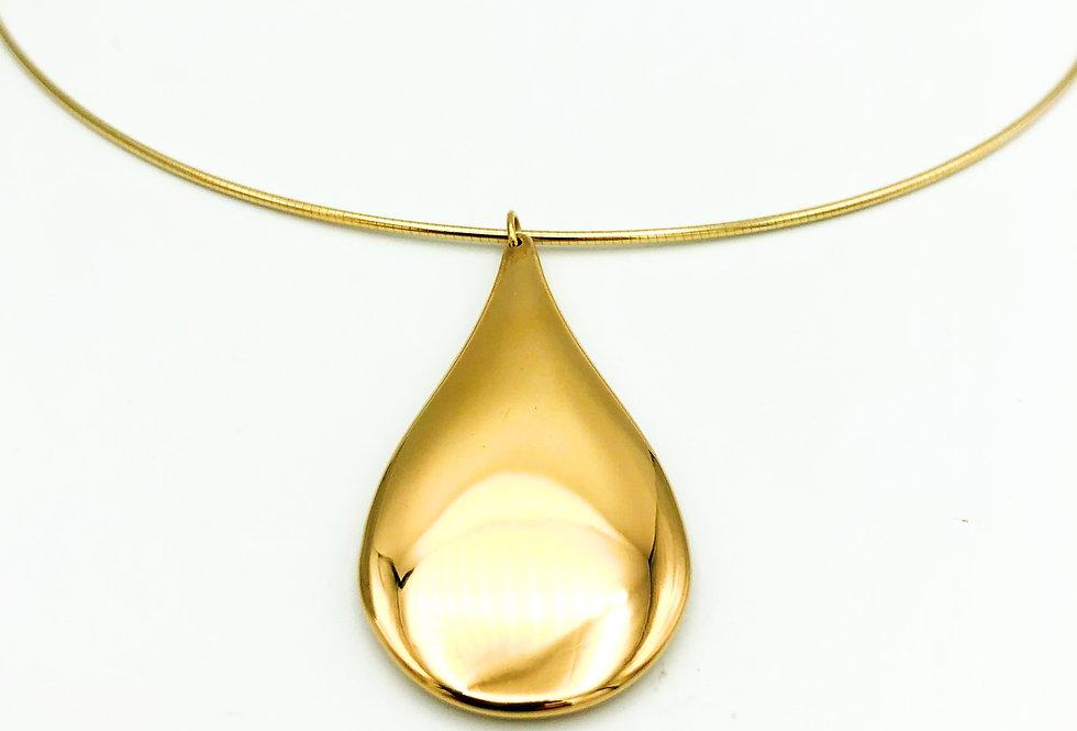 14 krt. Geelgouden druppelvorm hanger