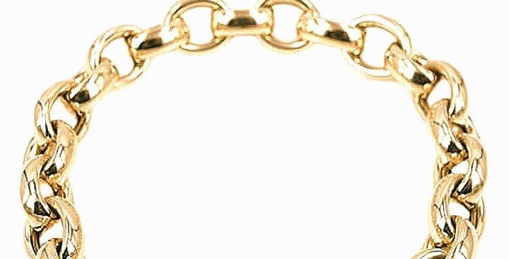 14 krt. Geelgouden schakelarmband